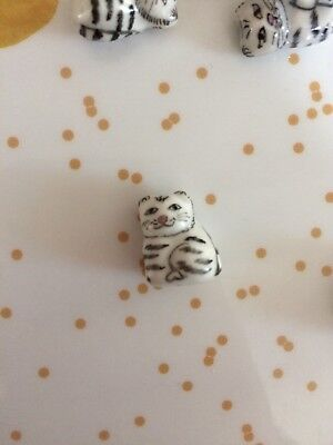 Ceramic Hand Painted Cat Bead Charm Lucky