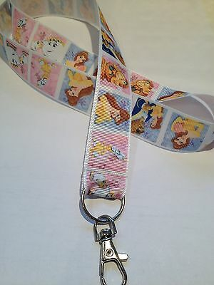 BEAUTY AND THE BEAST  Disney Inspired Lanyard / ID / Document Holder