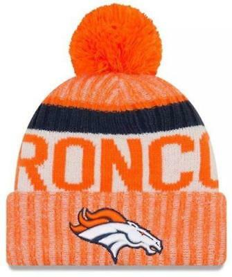 New Era NFL 2017-18 Sport Knit Sideline Fleece Lined Beanie Denver Broncos