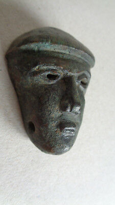 Ancient Celtic Bronze Head , Face, Mask Circa 2000 years old, Celtic God
