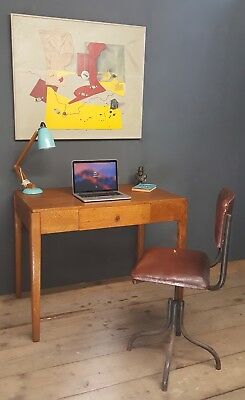 Mid Century retro Oak Desk