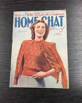 VINTAGE Home Chat magazine, September 16th 1944