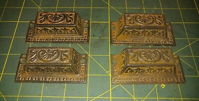 Vintage Cast Iron Ornate Scroll Cabinet Dresser Handle Drawer Pulls Steampunk