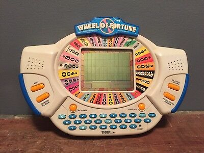Wheel Of Fortune Hand Held Portable Travel Electronic Game 1998 Works Great
