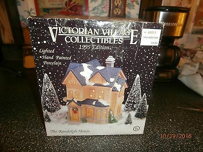 victorian village collectibles the randolph house lighted porcelian 1995