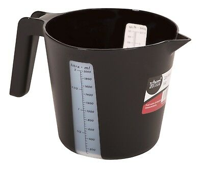 Quality Wham Medium 2 Litre Plastic Measuring Jug Microwavable Measuring Black