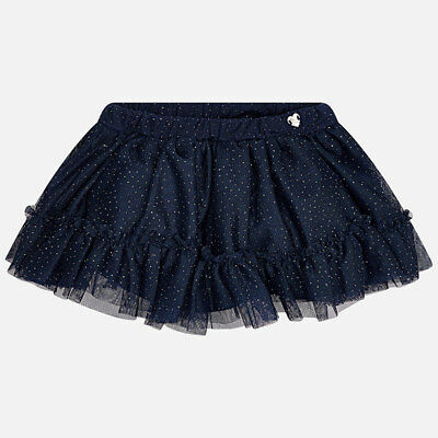 Mayoral Infant Girls Tulle Skirt in Glitter Navy (02905) aged 18,24,36 months