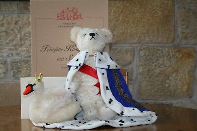 Steiff Limited Edition King Ludwig Teddy Bear with Swan