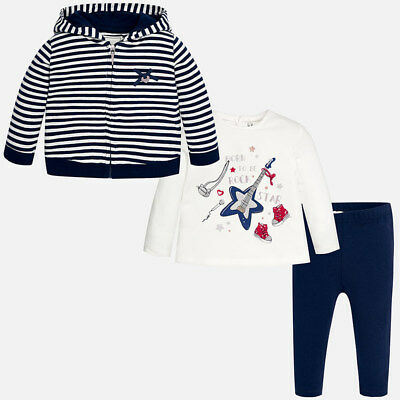 Mayoral Infant Girls Jacket and leggings set in Navy (02716) aged 18,24,36 Mnth