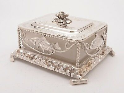 Victorian Novelty Silver Plated Butter Dish, Circa 1880