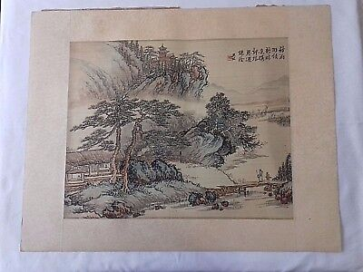 Ancient Chinese watercolor on silk