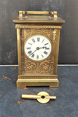 Carriage Clock late Victorian good working order