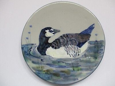 Highland Stoneware trivet/teapot stand of Barnacle Goose decorated by L MacLeod