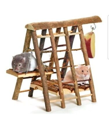 Wooden Castle Playground Tunnel House Exercise Toy Hamster Gerbil Mouse etc