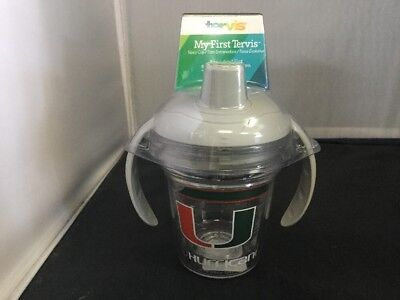 My First Tervis Tumbler Sippy Cup Miami Hurricanes FREE SHIPPING