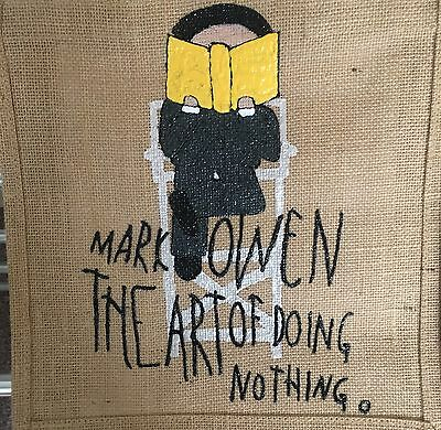 The Art Of Doing Nothing Mark Owen Hand Painted Bag Take That
