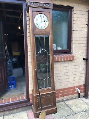 Grandfather Clock Longcase Westminster Chime Antique