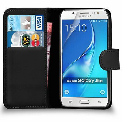 NEW Leather Wallet Flip Case Cover for SAMSUNG GALAXY J5 2017/16/15
