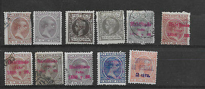 Spanish Puerto Rico: nice selection MH & used mixed condition (see scan)