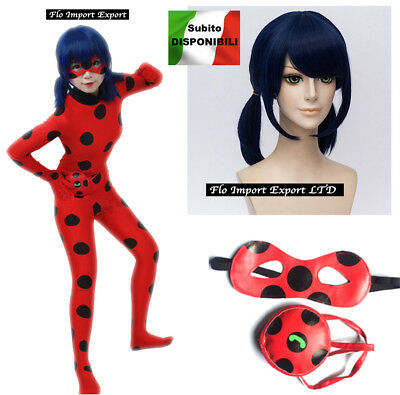 Simil Ladybug Vestito Tuta Carnevale Donna Bimba Cosplay Lady Bug Costume LBUG02