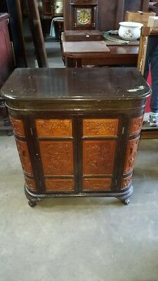 1950's Carved Oriental Cocktail Cabinet