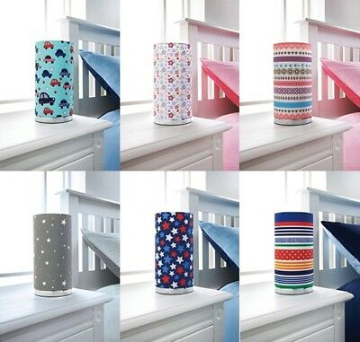 Funky and Bright Printed Kids Cylinder Table Lamp  for your baby's nursery.