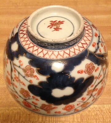 18thc Antique Chinese Marked Imari Prunus Porcelain Bowl