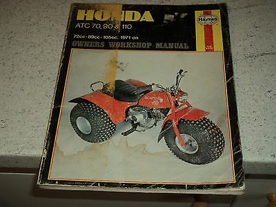 Haynes Honda ATC 70, 90 & 110 1971 on  Workshop Manual