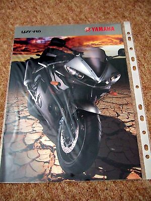 Yamaha YZF-R6 brochure 2003 excl cond.