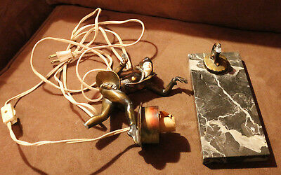 Gerdago Pixie Dancer Lamp Broken Repair Repurpose Art Deco Steampunk Fairy Elf