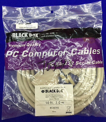 BLACK BOX NETWORK SERVICES RS-232 SERIAL CABLE 10 FT, 3.0m