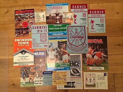 West Ham - 1975 FA Cup Winning Campaign Programmes & Tickets