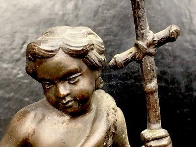 Beautiful & Rare Early Antique Heavy Bronze Sculpture dated to 1800s FreeUKP&P
