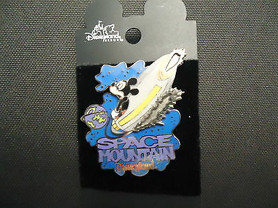 Disney Dlr Mickey On Space Mountain 2001 Pin On Card