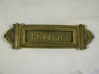 Antique BRASS MAIL SLOT/LETTERS PLATE - SARGENT CO.