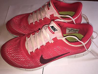 NIKE FREE 3.0 Womens Size 7.5 Pink Lightweight Athletic Running Sneaker Shoes