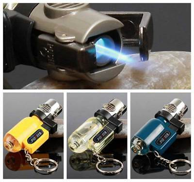 Windproof Straight Refillable Butane Gas Trip Torch Jet Flame Cigarette Lighter