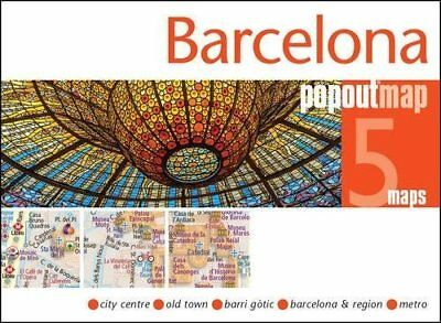 Barcelona PopOut Map New Sheet map  folded Book