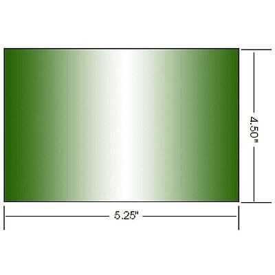 """Athermal Green Welding Safety Glass Lens Large Plate Dark 8 # Shade 4.50x5.25"""""""
