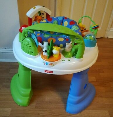 fisher price twirlin n whirlin entertainer activity centre jumperoo baby toy