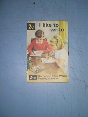 Ladybird Book Key Words 2c I Like To Write