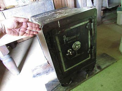 Atq Pittsburg Safe Co Floor Combination lock cash papers coins jewelry gems card