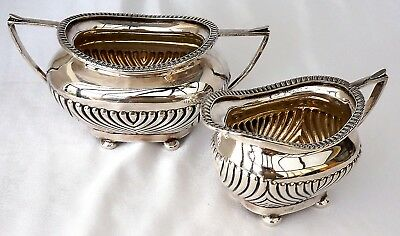 Set of Vintage Silver Plated GPNS Cream Jug & Sugar Bowl by James Deakin & Sons.