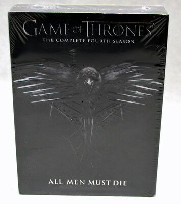 Game of Thrones: The Complete Fourth Season (DVD, 2015, 4-Disc Set) New & Sealed