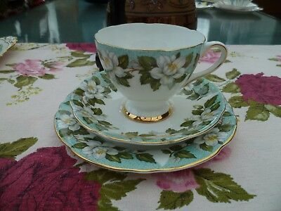 Lovely Vintage Gladstone China Trio Tea Cup Saucer Plate Montrose