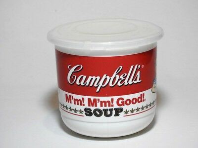 (2) - 1992 Edition, Campbell's Soup Plastic Mugs M'm M'm Good! - - -  With Lids