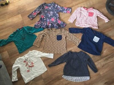 Girls Long-sleeved Tops, 9-12 Months