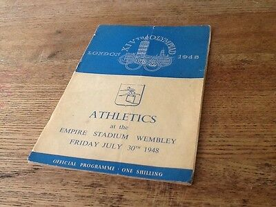 1948 olympic Programme Athletics