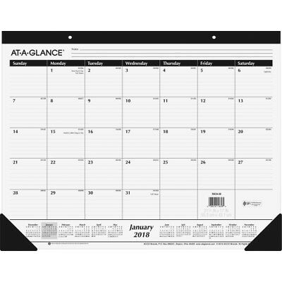 At-A-Glance 2018 Monthly Desk Pad - SK2400
