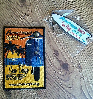 "AMERIVESPA 2013 San Diego ""America's Finest Scooter City"" Patch & Keychain"